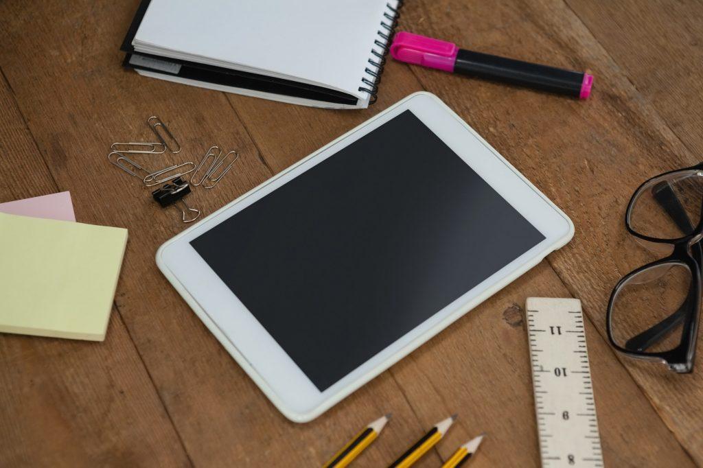 Skolesaker og iPad